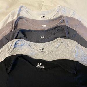 5  h&m toddler boy shirts size 2-4 years